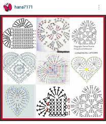 Heart Crochet Pattern Delectable Instagram Hana48 Crochet Hearts Pattern Diagrams Crochet
