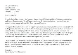 Sales Resume Cover Letter Retail Sales Cover Letter Samples Cover Letter For Retail Sales