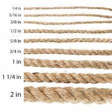 Rope Size Chart Manila Rope