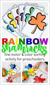 Find pages of fun animals, flowers these free online and printable coloring pages have pictures from assorted holidays, alphabets. Rainbow Shamrock Color Sorting Printable Activities Preschoolers Love