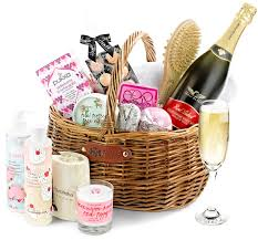 luxury pering set gift basket with sparkling wine
