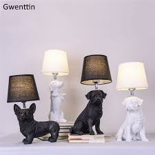 Nordic Puppy Table Lamps Bedroom Bedside Lamp <b>Modern</b> Animal ...