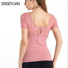 2019 <b>JINSEYUAN</b> Summer <b>Women'S</b> Short Sleeve Mesh Yoga Top ...