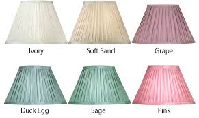 small pleated lamp shades box pleat faux silk small clip on lamp shade choice 6 colours