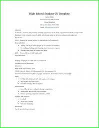 Simple High School Resume Examples 010 High School Resume Template No Work Experiencehigh