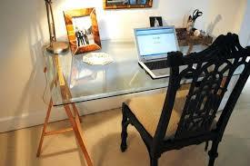 facsinating ikea glass top desk design galant kidney shaped