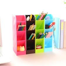 color pencil organizer set candy color office desk organizer stationery holder plastic pen holder box for colored pencil organizer diy
