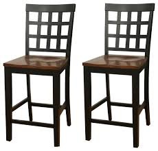 counter height chair heritage square block back counter height dining chairs set of 2 counter height