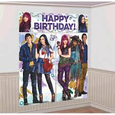 disney descendants 2 wall poster decoration kit scene setter birthday supplies 13051741051