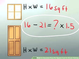 how to calculate square footage of a wall painting charge per square foot image titled calculate