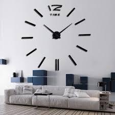 3d real big wall clock rushed mirror wall sticker diy living room home decor fashion watches arrival quartz wall clocks 37inch gold