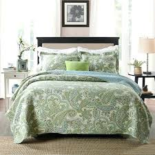 oversized queen duvet cover cotton green paisley printed bedding set luxury oversized queen quilt set soft
