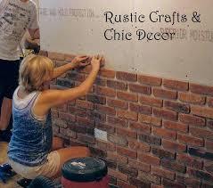 diy brick wall easy way to install a rustic brick veneer wall rustic crafts interior brick diy brick wall