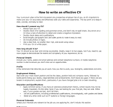 Effective Resume Imposing How To Write Effective Resume Curriculum Vitae Good Pdf 50