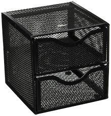 com rolodex black mesh desktop organization cube fg9e5600bla office desk trays office s