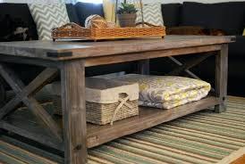 homemade wood coffee table rustic x coffee table diy wood coffee table top