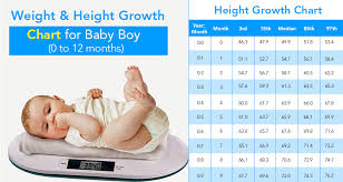 A Helpful Baby Weight And Height Growth Chart By Month For A