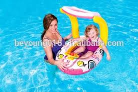 pool water with float. Inflatable Baby Float Seat Boat Ring With UV Car Sunshade Swim Pool Water Fun,steering