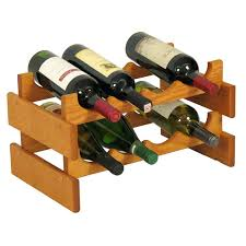 8 bottle wine rack wooden mallet 2 tier in medium oak sequeira wall mounted