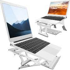 Amazon.com: Laptop Stand, 9 Angles, 3 Folding Modes in 1. Portable  Ergonomic Angled Laptop Aluminum Stand. Adjustable Height Laptop Holder  with Slide-Proof Silicone. for Laptop 10''~15.6''(Silver): Electronics