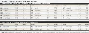 Ariat Concord Chaps Size Chart 44 Credible Ariat Concord Chaps Size Chart