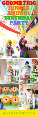 Geometric Jungle Animal Birthday Party via Kara's Party Ideas