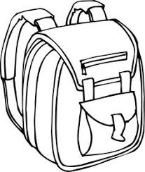 Small Picture School Bag and Supplies coloring page for kids back to school