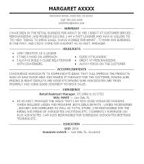Resume Examples Retail Manager Retail Store Manager Sample Resume