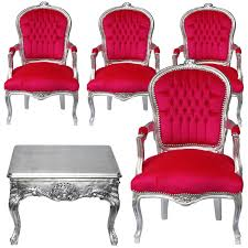 dining room set red