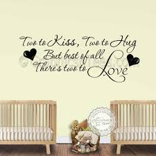 nursery wall sticker for twins baby boys girls bedroom wall decor two to love wall quote vinyl wall art on girl nursery vinyl wall art with nursery wall sticker for twins baby boys girls bedroom wall decor