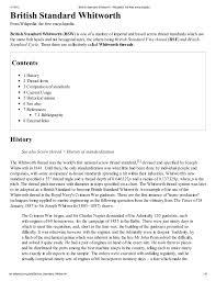 British Standard Whitworth Wikipedia The Free Encyclopedia