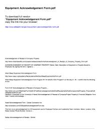 company property acknowledgement form company property acknowledgement form fill out online download