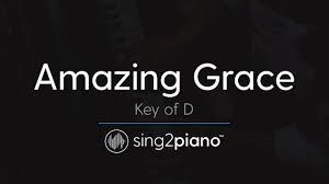 Amazing Grace (Key of D - Piano Karaoke ...