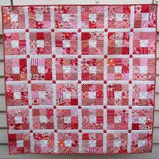Red Pepper Quilts: Nine Patch Quilt - Strawberry Patches & I also selected predominately red and pink fabrics, with just a small  splash of orange. The finished size of each nine-patch block is 6 inches. Adamdwight.com