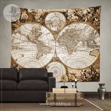 steampunk wall decor amazing antique world map wall tapestry ancient world map wall hanging