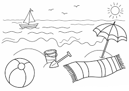 Small Picture Absolutely Ideas Beach Scene Coloring Page 3 Beach Scene Happy