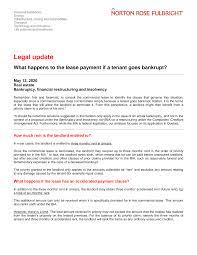 Insolvency is the legal term for a state of being unable to pay debts when they are due, or what is insolvency? Https Www Nortonrosefulbright Com Media Files Nrf Nrfweb Knowledge Pdfs What Happens To The Lease Payment If A Tenant Pdf La En Ca Revision