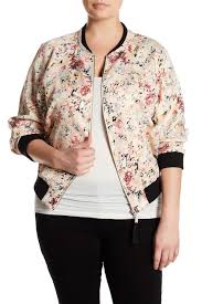 Nordstrom Rack Plus Size Coats Jolt Floral Print Bomber Jacket Plus Size Nordstrom Rack 27