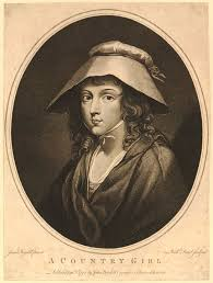 best women s th century hats bonnets images  a young w half length to left in an oval wearing shawl and wide brimmed bonnet looking to front solemnly after josiah boydell