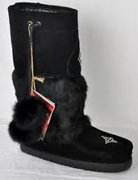 Details About Manitobah Mukluks Waterproof Snowy Owl Mukluk 6010506 Black Size 10