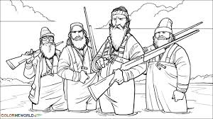Duck Dynasty PDF Printable Coloring Page - Duck Dynasty
