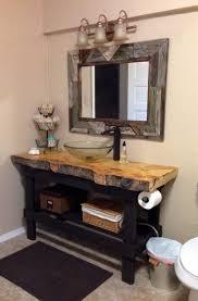 Homemade Bathroom Vanity 25 Best Rustic Bathroom Vanities Ideas On Pinterest Barn Barns