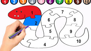 Small Picture Snake Coloring Page and 1 to 10 Numbers Snake Puzzle YouTube