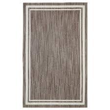 border loop taupe cream 4 ft x 6 ft area rug
