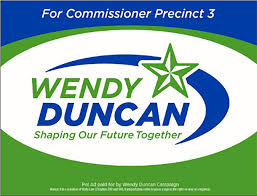 Wendy for Commissioner | Wendy Duncan for Commissioner | Ft. Bend County