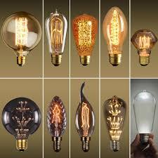 Historic Light Bulbs Details About E27 40w Vintage Retro Filament Edison Tungsten