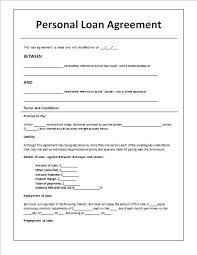 At Simple Personal Loan Agreement Template 10 Lovlyangels Com