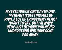 Crying Every Day Love Quotes