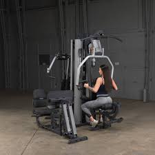Body Solid Sbl460p4 Exercise Chart Body Solid G9s Selectorized 2 Stack Multi Gym New