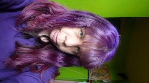 Brown Hair Dip Dyed Purple And Blue